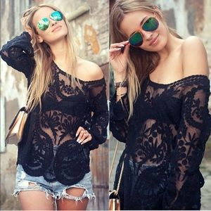Tops - Sexy Lil' Lace & Crochet Blouse